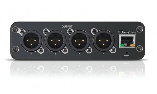 4-канальный сетевой аудио интерфейс Dante Mic/Line с XLR выходами ANI4OUT-XLR