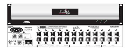 Шасси цифрового матричного микшера для 12 плат. С модулем Cobranet Audia FLEX CM