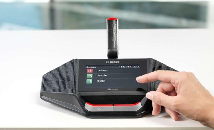 Расширенный беспроводной микрофонный пульт с сенсорным экраном DCNM-WDE