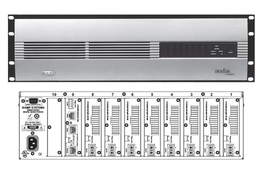Шасси усилителя мощности для установки 8 модулей AM 600. Выходная мощность шасси до 2400 Вт AudiaFUSION