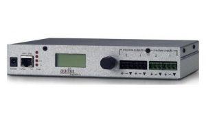 Сетевой модуль расширения на 2 MIC/LINE аналоговых входа и 2 аналоговых выхода для AudiaFLEX CM Audia EXPI/O-2