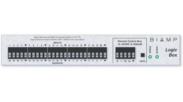 Сетевой модуль 20-ти программируемых логических входов/выходов для работы с AudiaFLEX или NEXIA по шине RCB LOGIC BOX