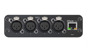 4-канальный сетевой аудио интерфейс Dante Mic/Line с XLR входами ANI4IN-XLR