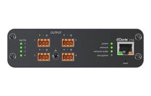 4-канальный сетевой аудио интерфейс Dante Mic/Line с блочными выходами ANI4OUT-BLOCK