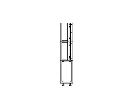 Напольное крепление для панелей 46″, черный цвет, без механизма выдвижения Floor Mount 46″ no Push in/out