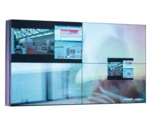 """Бесшовная видеостена 2х2, настенная. В комплекте 4 панели Full HD 55"""" (межпанельный шов 2,3/1,2 мм, 500 кд/м2, 4000:1, LED подсветка, угол обзора 178 град.), видеоконтроллер, настенное крепление с фронтальным доступом TRD1055S7/WM_2x2"""