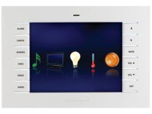Настенная проводная сенсорная панель управления Crestron Isys с 5,7» резистивным сенсорным экраном и графическим интерфейсом, белого цвета, матовая TPS-6LW-T